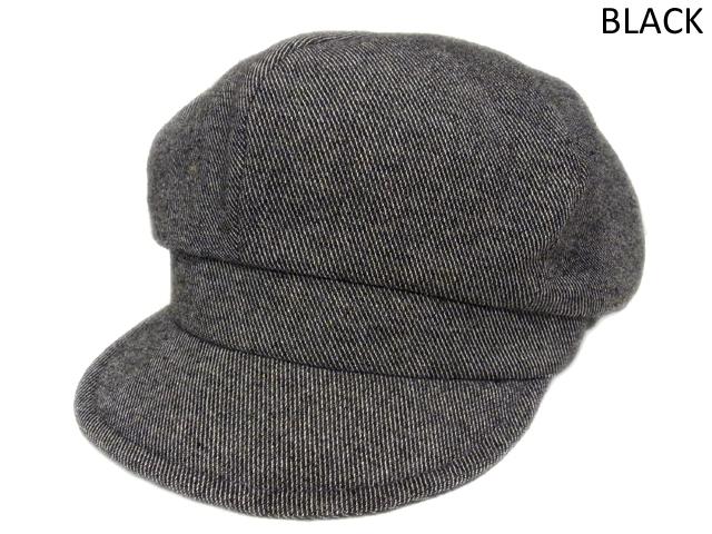 【KNOWLEDGE(ナレッジ)オリジナル】 Wool Semi Wide Cas(日本製) カラー:ブラック