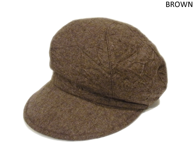 【KNOWLEDGE(ナレッジ)】 Crinkle Wide Casquette(日本製) カラー:ブラウン